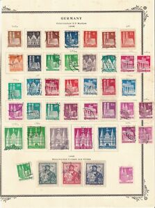 GERMANY 1948 ALBUM PAGE BUILDINGS SPECIALIST COLLECTION LOT CDS