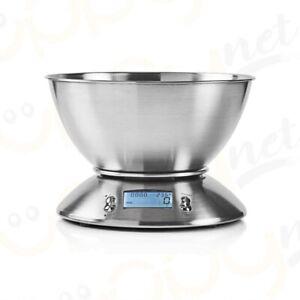 Bilancia Da Cucina Digitale Elettronica Di Precisione Ciotola Acciaio Inox 2,5 L
