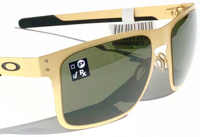 d99610bdfcb Oakley Holbrook Metal Satin Gold Dark Grey Sunglasses 4123-08 for ...