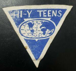 "Vintage Hi-Y Teens Patch 4"" High School YMCA"