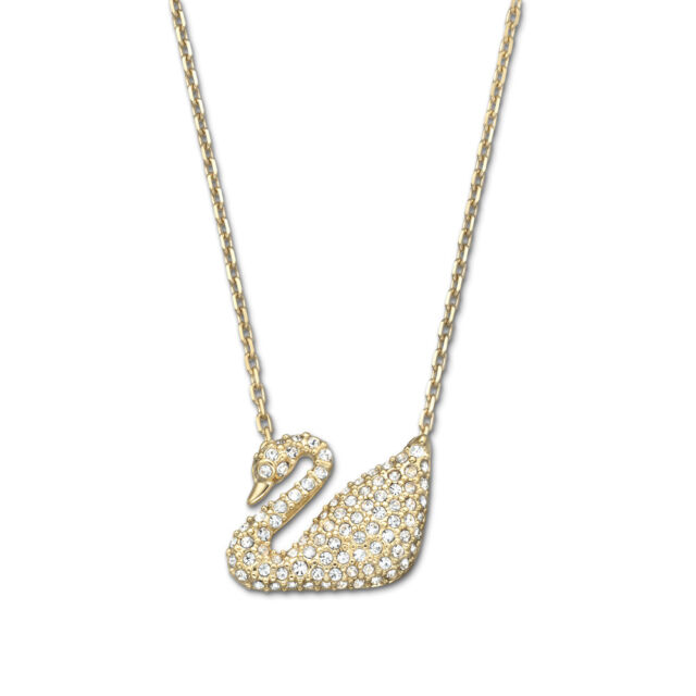 0918ea2d694a4 Swarovski Crystal Swan Necklace Gold-plated