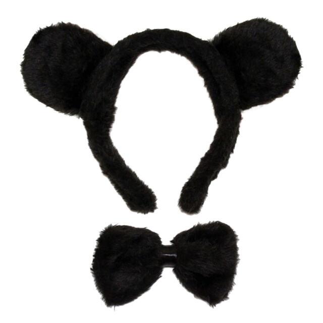 Bear Ears /& Bow Tie Costume Set ~ HALLOWEEN BEAR DRESS UP PARTY ACCESSORY KIT