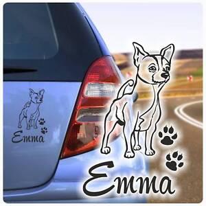 Auto-Aufkleber-Chihuahua-Name-Autoaufkleber-Hund-Hunde-Pfoten-Sticker-A1175