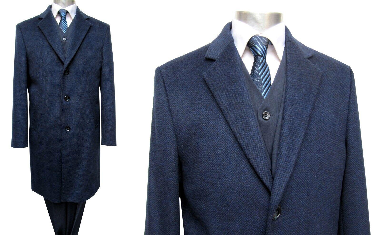 Muga Herren Mantel lang Gr.62 Marine blau