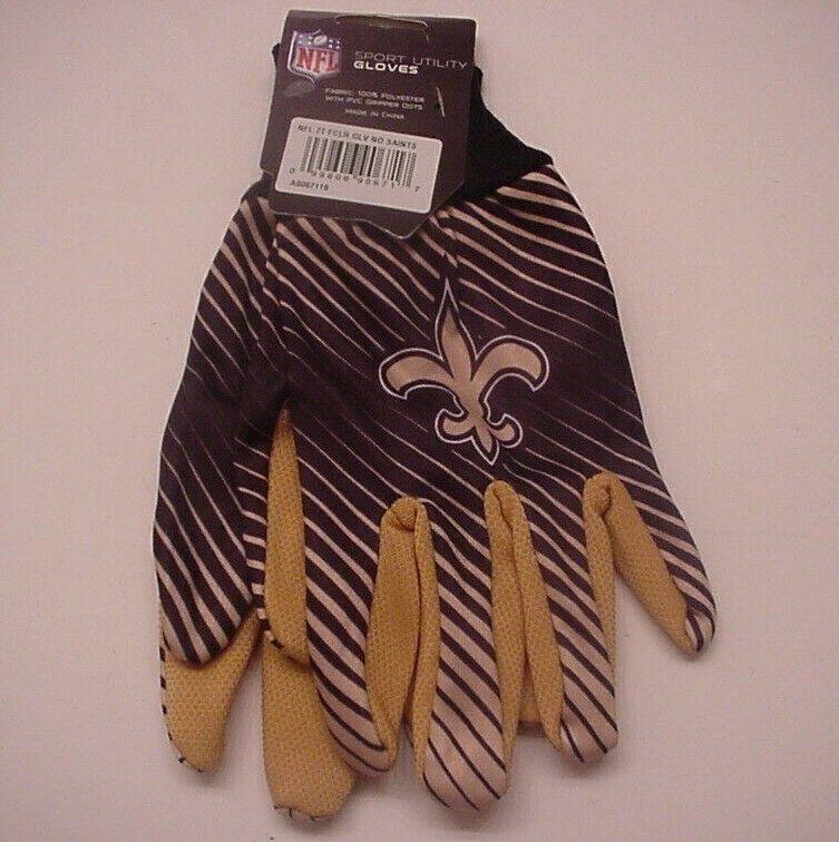 New Orleans Saint Gloves Sport Utility Stripe Official Logo Win-Craft Adult OSFM