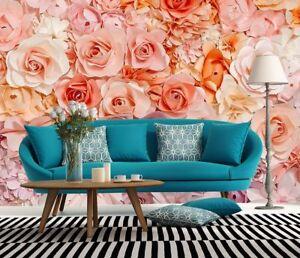 grande-taille-Papier-peint-mural-photo-mur-Fleurs-Roses-pour-chambre-a-coucher-amp