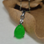 China-handcarved-green-jade-Water-drop-shape-Pendant-necklace thumbnail 2