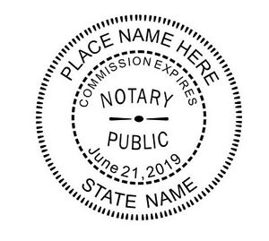 Image Is Loading Custom Round Official Notary Self Inking Rubber Stamp