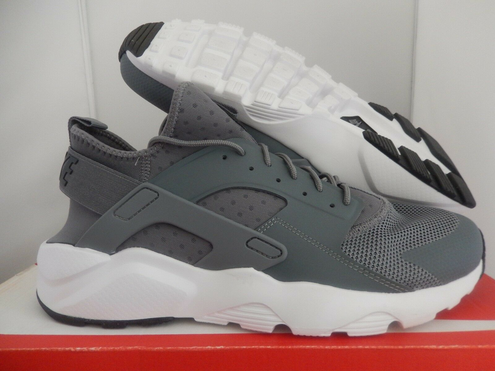 MENS NIKE AIR HUARACHE RUN ULTRA COOL GREY-BLACK-WHITE SZ 9.5 [819685-011]