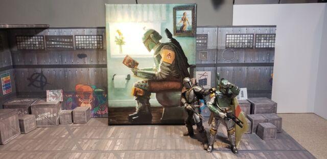 Star Wars Boba Fett 12x9 Inch Canvas