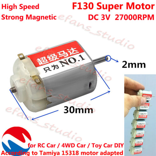 DC 3V 27000RPM High Speed Strong Magnetic Micro F130 Motor For RC Toy Racing Car