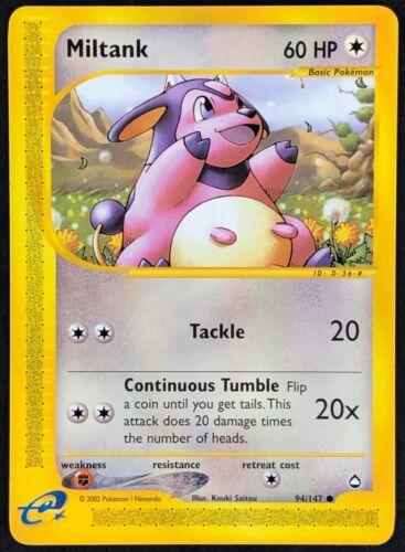 Pokemon Card Miltank Aquapolis 94//147 EXCELLENT Non-Holo Common TCG!!!!!!!!!!!!!
