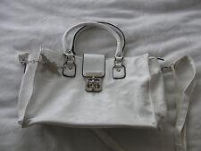 tolle weisse Handtasche, Schultertasche von Kossberg mit Elfe,  Hilfe.....