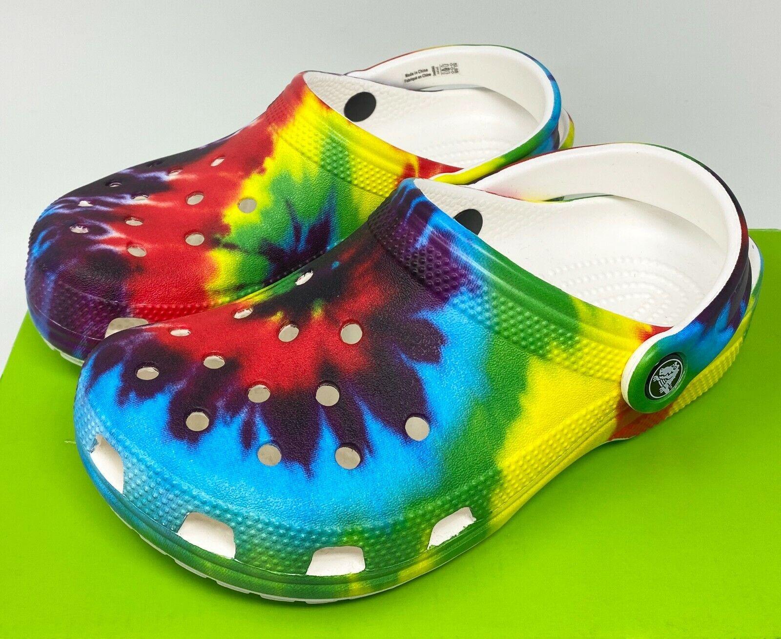 Crocs Classic Multicolor Tie Dye Clogs