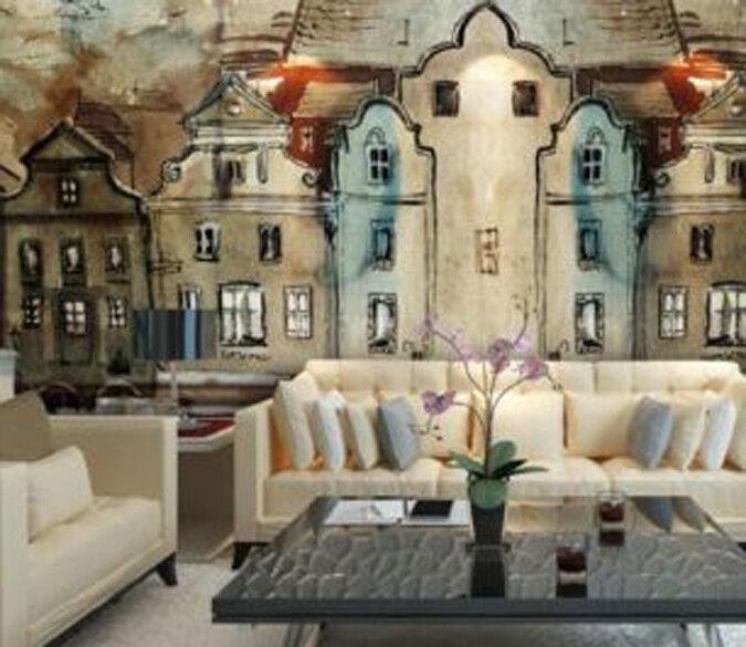 3D Handgemaltes Haus 82 82 82 Tapete Wandgemälde Tapete Tapeten Bild Familie DE | Verschiedene Waren  |  f32889