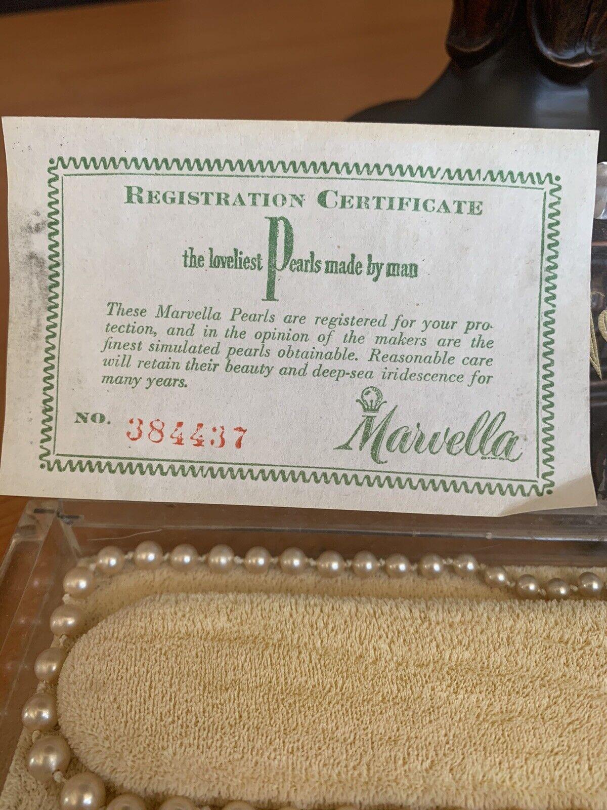 Marvella Vintage Single Strand Faux Pearl Necklace - image 2