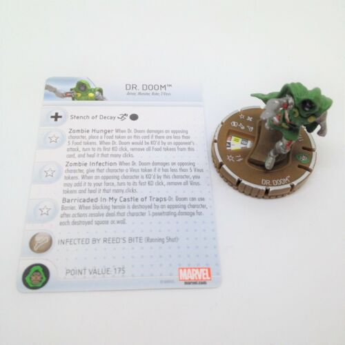 Doom Heroclix Guardians of the Galaxy set Dr #068 Chase figure w//card Zombie