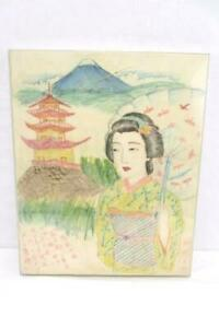 Unique-Marker-On-Fabric-Art-Drawing-Japanese-Girl-Homesick-For-Mountain-Home