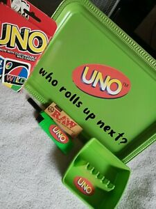Smoker-039-s-Uno-Stoner-039-s-Uno-420-Card-Game-Rolling-Tray-Set-Lighter-Ashtray