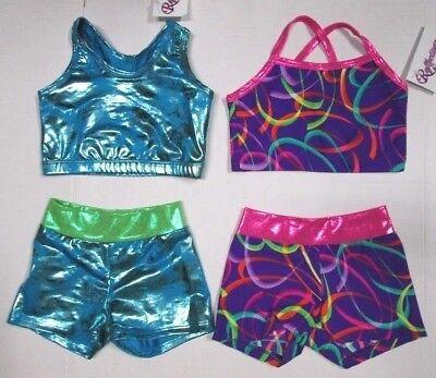 New Girls Crop Top Shorts Set Size 6 SC Child Dance Gymnastics Leotards 5 Choice