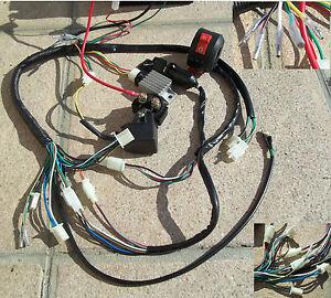 Schema Elettrico Quad 110 : Impianto elettrico comandi blocco chiavi regolatore rele mini quad