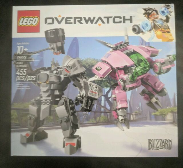 NEW FACTORY SEALED Lego Blizzard's Overwatch 75973 D.VA & Reinhardt SHIPS FREE!