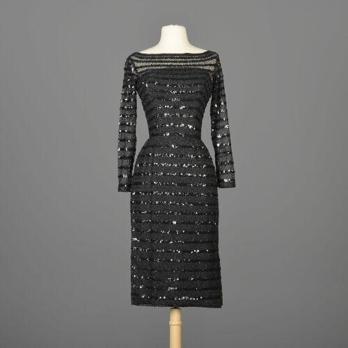 XXS Vintage 1960s 60s Ceil Chapman Long Sleeve Se… - image 1