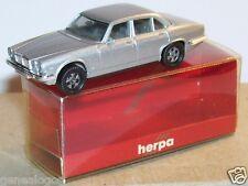 MICRO HERPA HO 1/86 1/87 JAGUAR XJ 6 12 C GRIS CLAIR METAL in BOX 1