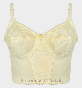 be15a07a74 Image is loading Vintage-House-Of-Satin-Wire-Less-Longline-Bra-