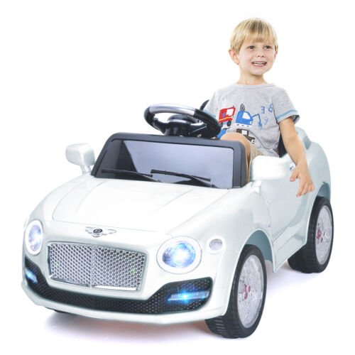 6V Kids Ride On Car Electric Battery Power RC Remote Control \u0026&; Doors MP3 White