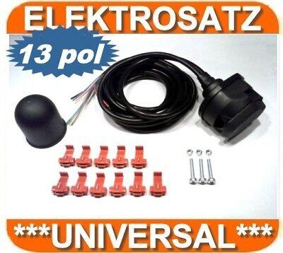 ELEKTROSATZ E-SATZ UNIVERSAL 13-polig für ANHÄNGERKUPPLUNG AHK Für Fiat DUCATO