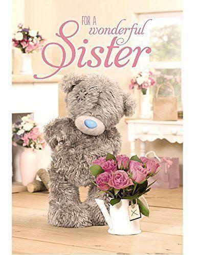 For a Wonderful SISTER - Medium - Tatty Teddy Me to You - Birthday Card