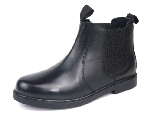 Frank James Chester Boys Unisex Chelsea Ankle Leather Boots Black