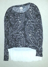 BNWT ABERCROMBIE & FITCH BLACK / IVORY SUPER SOFT KNITTED SWEATER SIZE S RRP £58