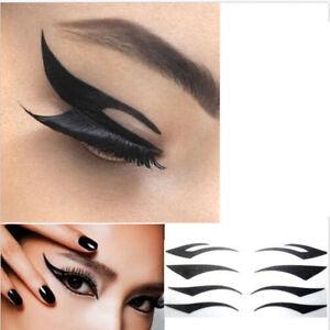 8pairs cat temporary eyeliner eyeshadow sticker eye tattoo for Eye temporary tattoo makeup