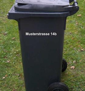 Aufkleber Beschriftung Für Müll Abfalltonne Mülltonne Text