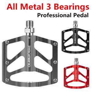 PROMEND Mountain Bicycle Pedal Mtb Road Bike Large Wide Ultralight 3 Bearings