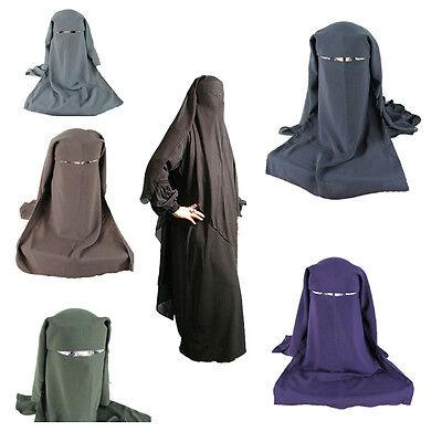 2015 New Fashion Muslim Islam Niqab Nikab 3 Layers Veil Scarf  Women Shawls