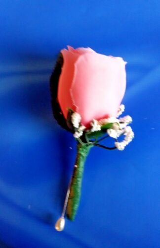 Boutonniere Corsage Groom Groomsmen Prom Wedding Party Silk Rose Bud