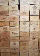 12 BOTTLE LARGE FRENCH WOODEN WINE CRATE / BOX  PLANTER HAMPER STORAGE