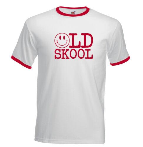 Old Skool Dance Rave DJ Acid Festival Retro House 1402 Ringer T Shirt.