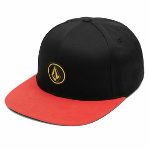 Volcom Unisex Quarter Twill Snapback Hat Flame Red Clothing Apparel Snowboard