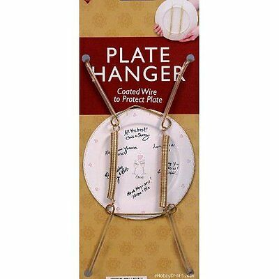 Decorative Plate Display Hangers Are Expandable to Hold 8 to 10 Inch Plates