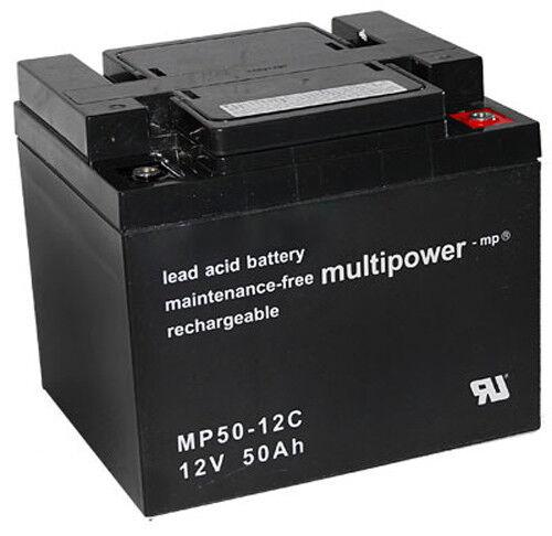 Multipower  Blei Akku Zyklenfest Pb / 12V / 50 Ah / M6 /  MP50-12C