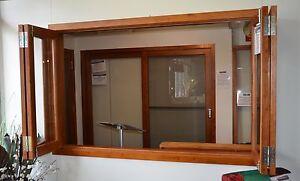 BIFOLD-FRENCH-WINDOWS-SOLID-CEDAR-TIMBER-1800W-X-1200H-6mm-Glass-Hardware