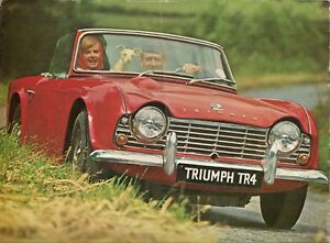 Triumph Tr4 1961 65 Uk Market Sales Brochure Ebay