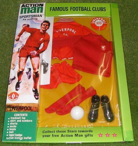 Vintage Action Man 40th Sportsman cardées club de football Liverpool FC neuf