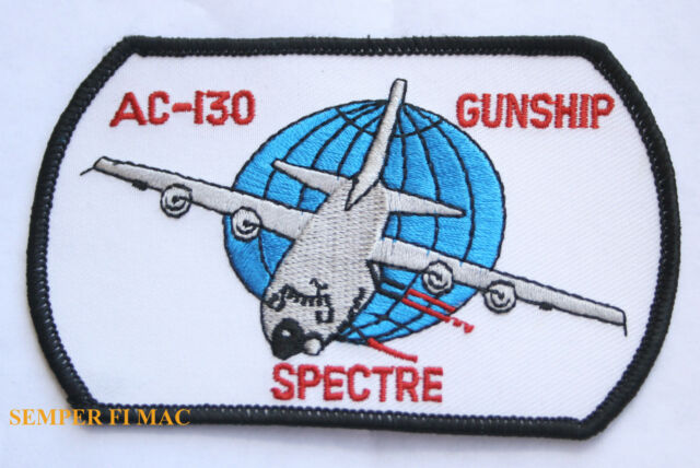 AC-130 SPECTRE GUNSHIP US AIR FORCE PATCH C-130 SKULL AFB SPECIAL OPS PILOT CREW