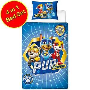 Paw-Patrol-4-Pieces-Junior-Literie-Bundle-Jeu-Couverture-Super-Heros-Bebe-Pup