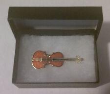 Strativarious Violin Brooch Lapel Hat Pin